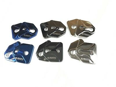 Alloy Door Lock Covers (x4) Subaru, STi, WRX, Impreza, Liberty, Forester, Turbo