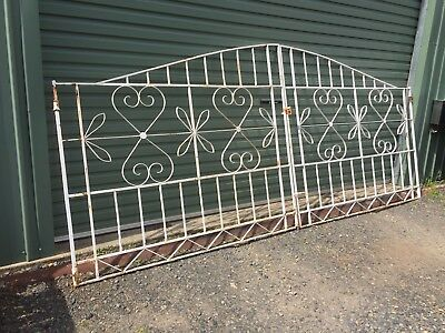 Vintage Retro Driveway Wrought Iron Gates Industrial - BUY NOW.