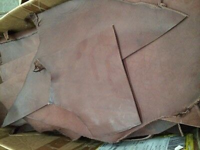 1kg bag premium italian leather offcuts - BROWN - 3.5mm, veg tanned