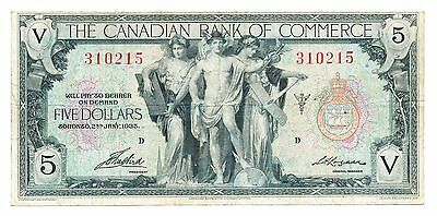 The Canadian Bank of Commerce $5 1935
