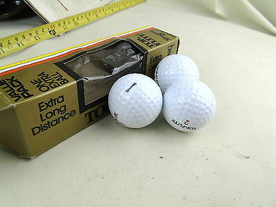 Vintage Retro Top Flight Spalding Extra Lively Golf Balls