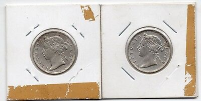Hong Kong 20 Cent 1892 And 1895 Silver Coin   A553