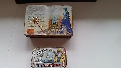 2 Small Old Collectable Tins