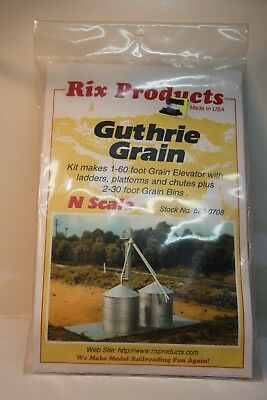 N Scale 1/160 Rix Products Guthrie Grain Silo Complex Kit