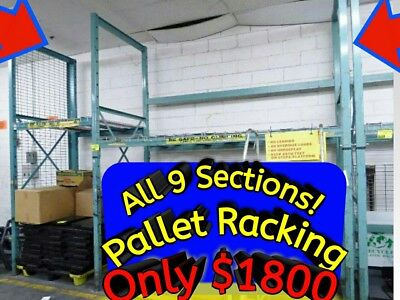 PALLET RACKING All 9 Sections Heavy Duty Not the Cheap Stuff