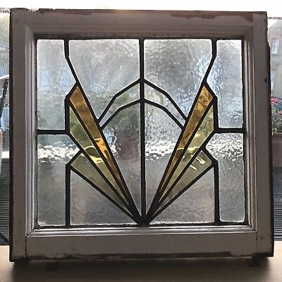 Art Deco Stained Glass Window 1930's
