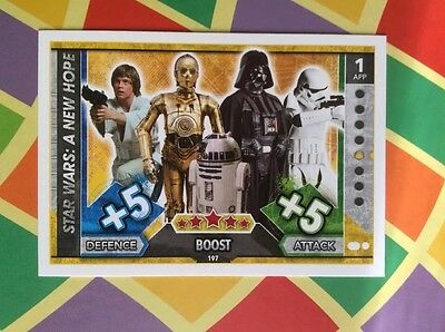 Star Wars Topps Force Attax trading card - No 197 A New Hope Boost New