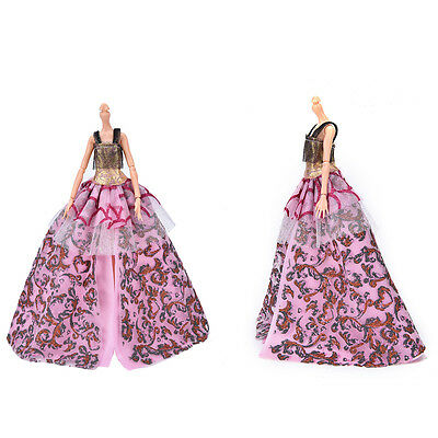 """Fashion Beautiful Handmade Party Clothes Dress for 9"""" Barbie Doll abus"""