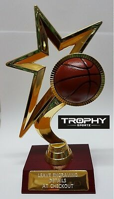 1 X BASKETBALL TROPHY,medal,award, 190mm High, FREE ENGRAVING