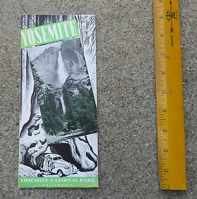 Original 1937 Yosemite  Fold Out Brochure.