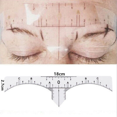 50/200pcs Disposable Eyebrow Ruler Stickers Tattoo Microblading Measure Tool