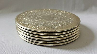 Set Of Six Vintage C1970's Large Plate Coasters - Made In England