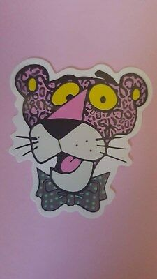 PINK PANTHER sticker decal car wall unused unstuck quality 7 X 6.5 cm
