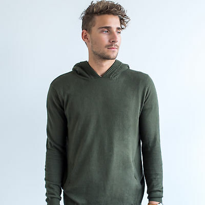 NEW Ronaldo Pullover Performance Hoodie In Khaki Men's by Grass Bred