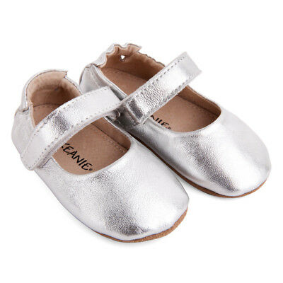 NEW Pre-walker leather lady jane shoe in silver Girl's by SKEANIE