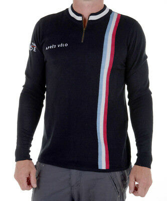 NEW Men's retro wool blend pullover by Apres Velo