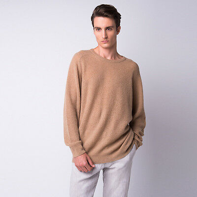 NEW Poet feather light cashmere crew top Men's by CASHMERISM
