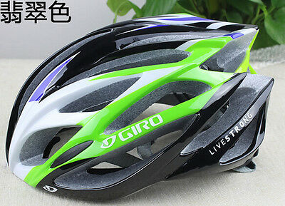 Hot New Giro helmet bicycle road live strong unisex fit 56-62cm green