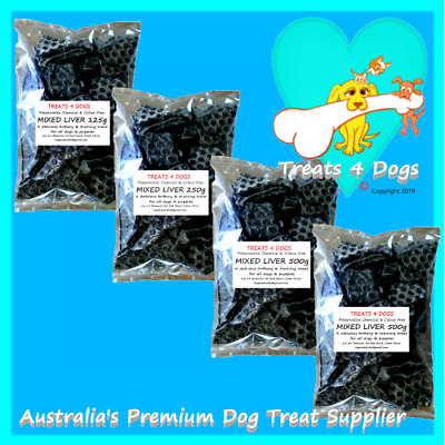 MIXED LIVER 125g 250g or 500g TREATS 4 DOGS Premium Thin Cut Pet Training Foods