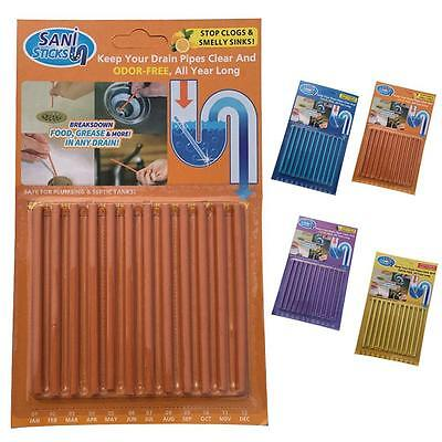 12Sticks/Bag Keep Drain And Pipe Clear And Odor Free As Seen On TV Home Clean ❀F