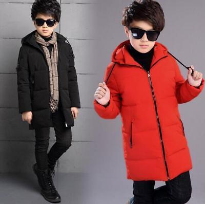 Children Boy Winter Jacket Down Cotton Padded Clothing Warm Thick Coat Parka