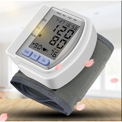Digital  Wrist Blood Pressure Pulse and tonometer Monitor Heart Beat Meter