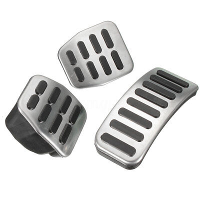 Stainless Steel MT Pedal Pads For VW Polo Jetta MK4 Bora Golf AUDI A1 A2 A3 TT