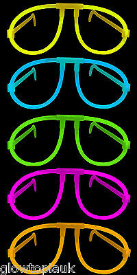 144x Glow in the Dark Glasses - Glow Stick Bright Neon Glasses Parties Festivals
