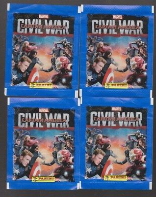 10 paquets neufs + vrac stickers CIVIL WAR CAPTAIN AMERICA PANINI Marvel