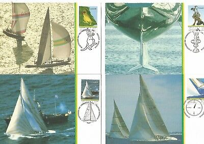 Australia 7 America's Cup Souvenir Postcards. Nice. See Scan.