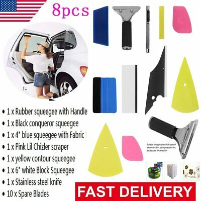 Car Window Tinting Squeegee 8in1 Auto Film Wrapping Install Applicator Tools A#