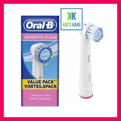 NEW ORAL-B BRAUN REPLACEMENT SENSI Ultra Thin CLEAN TOOTHBRUSH HEADS SEALED PODS