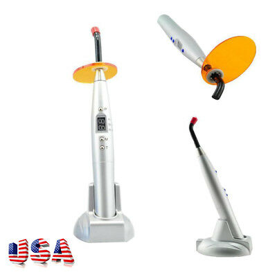 USA Dental 10W Cordless LED Curing Light Lamp 2000mw For teeth Cure Silver