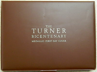 1975 UK J M W Turner Bicentenary Medallic First Day Cover Silver Proof PNC