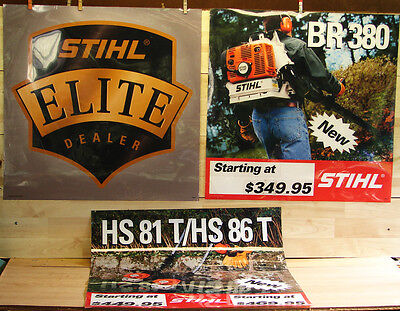 Vintage Stihl Chainsaw~Yard Tools Laminated Dealer In Store Advertising Sign