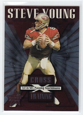 1999 Leaf Rookies and Stars Cross Training #CT25 Steve Young #0337/1250