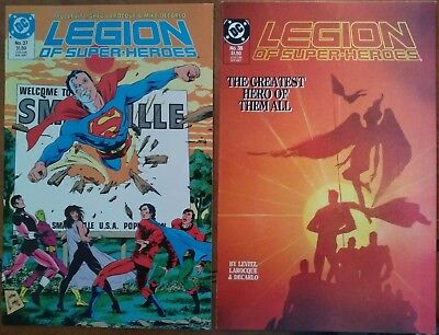 Legion of Super-Heroes 37 and 38 - Death of Superboy Lot