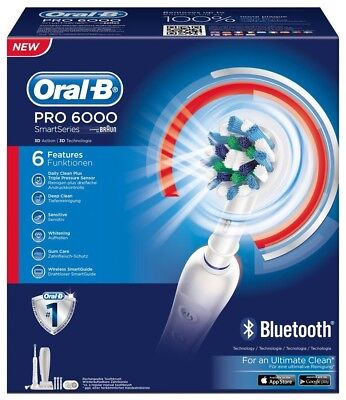 Oral-B Pro 6000 SmartSeries - tooth brush - white