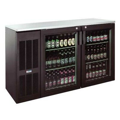 "Krowne Metal BS108L 108"" Black Vinyl Refrigerated Back Bar Storage Cabinet"
