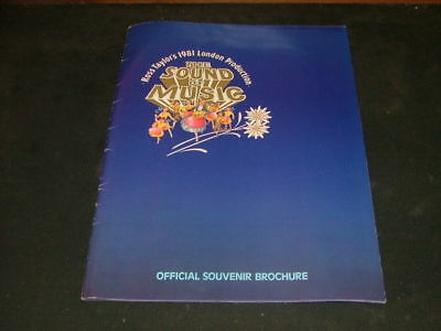 Sound of Music Brochure 1981 Ross Taylor Production                    ID:4508