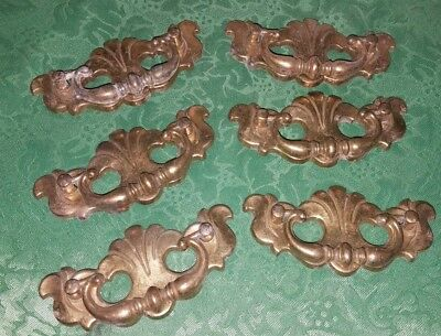 **CHIPPENDALE BRASS** Batwing Drawer Pulls~Beautiful Lot of 6~Canada CP 3047!