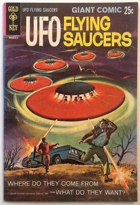 UFO Flying Saucers #1 VF- 7.5 Gold Key 1968 Rare High Grade 68 Pages
