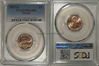 2017 D Lincoln SHIELD Cent 1c PCGS MS66RD