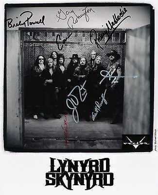 Lynyrd Skynyrd Signed Autographed 8x10 Photo Reprint