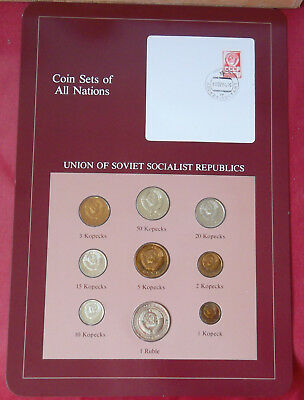 Scarce 1976 20 kopeck & 1 ruble in Coins of All Nations set