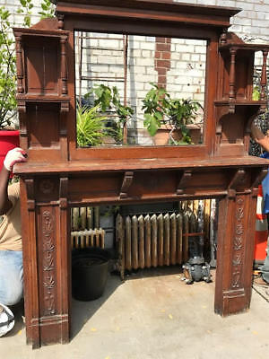 Antique Mantel with Top - Architectural Salvage from Historic Brownstone