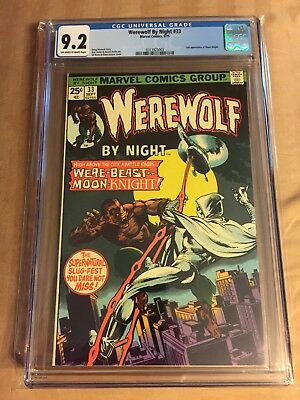 Werewolf By Night #33 Marvel 1975 2nd Appearance Of Moon Knight! CGC 9.2 NM-