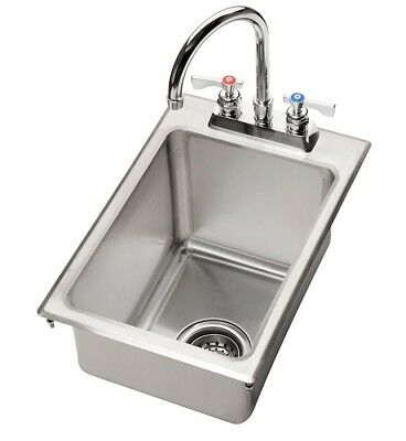 Krowne Metal HS-1425 One Compartment Drop-In Hand Sink