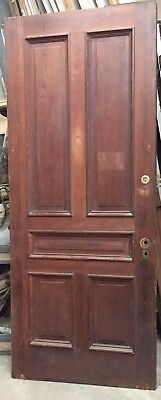 Oak Door Entry Door- 5 Panel - 36 x 87-1/2- Reclaimed