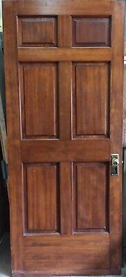 Beautiful Oak Door Entry Door 36 x 86- 6 Panel - Reclaimed- Excellent Condition